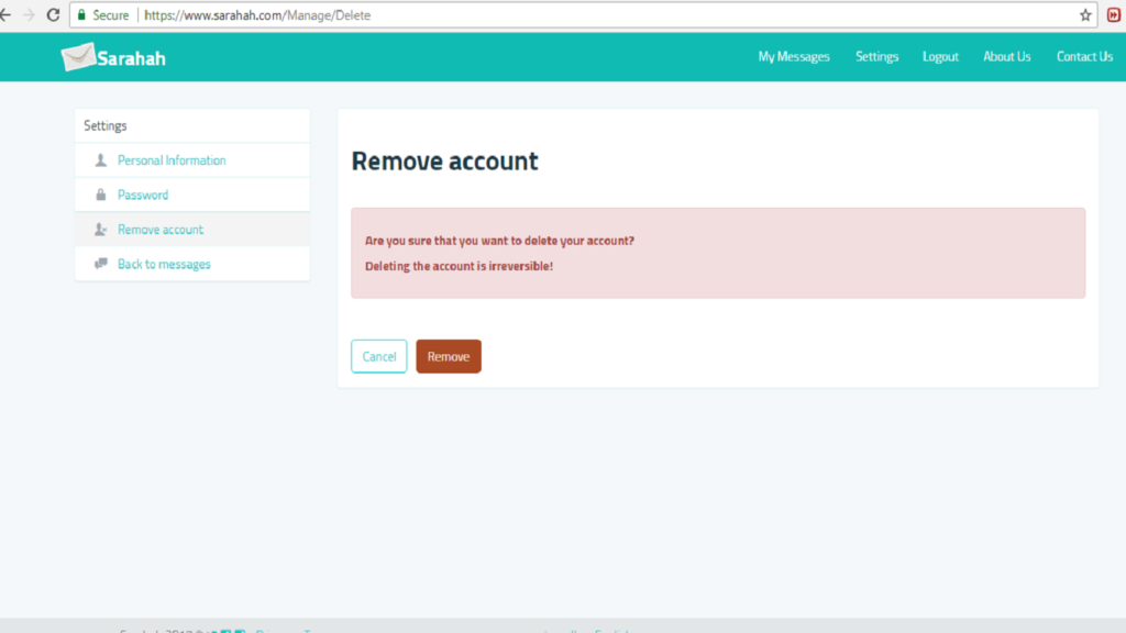how to use sarahah account